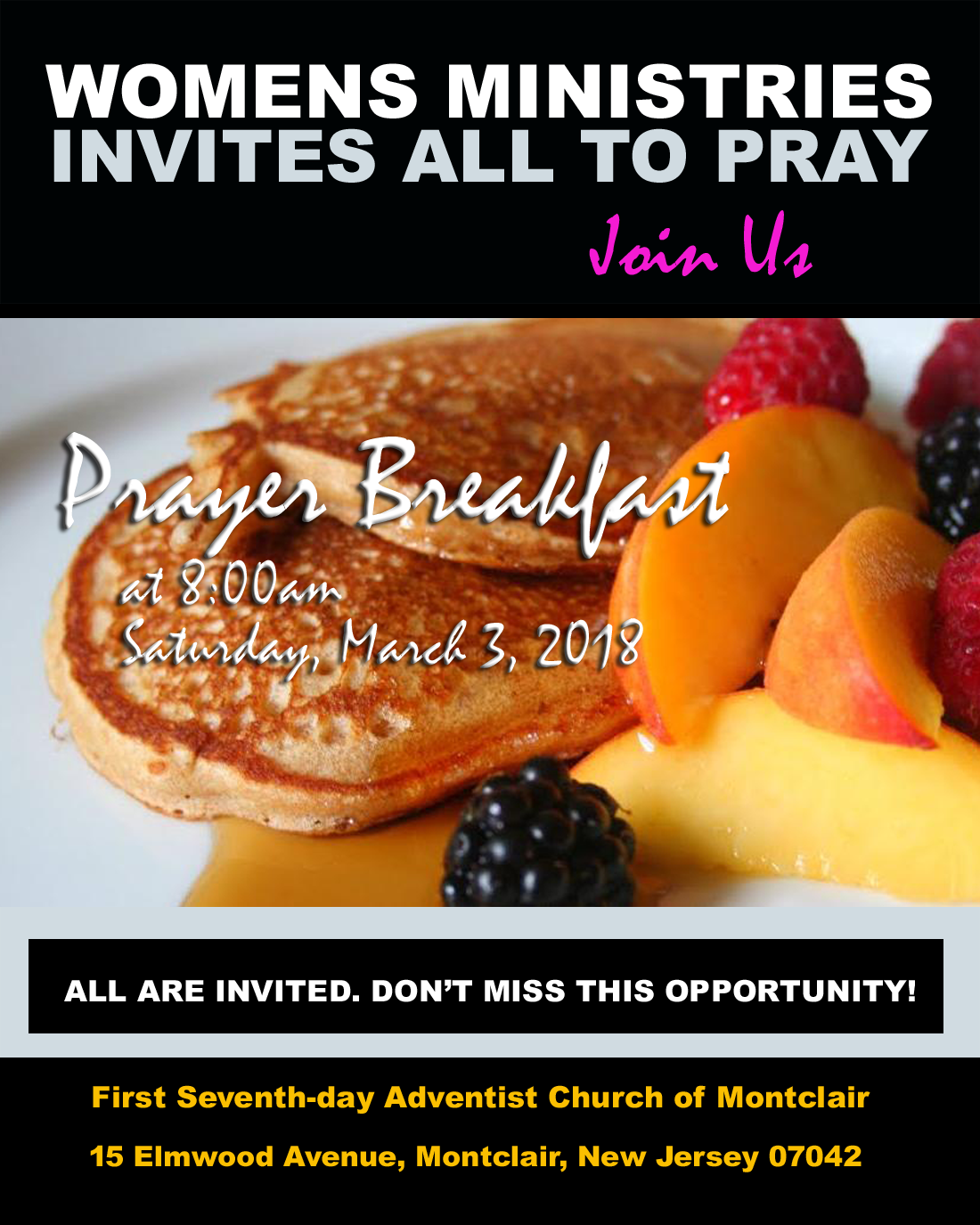 Prayer Breakfast 3/3/18